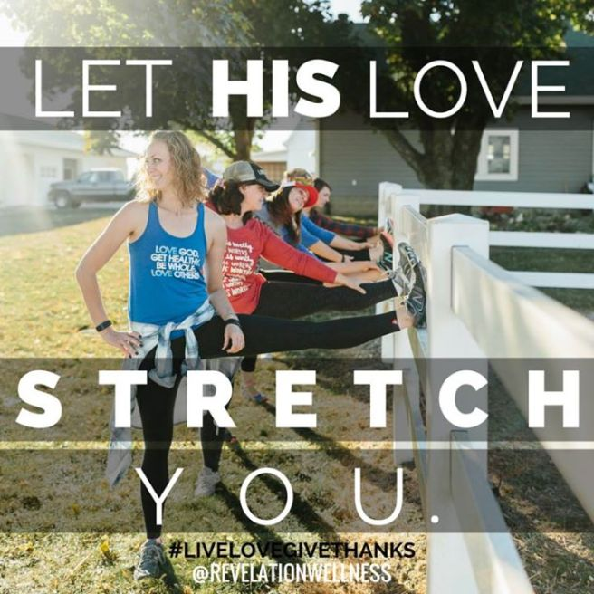 revelation wellness let his love stretch you